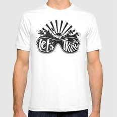 Let's Travel! White Mens Fitted Tee MEDIUM