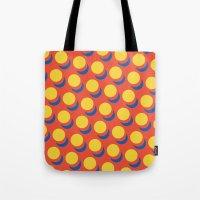 lichtenstein Tote Bags featuring Wanna-Be Roy Lichtenstein Pattern by Heidi Clifford