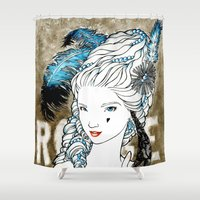 marie antoinette Shower Curtains featuring Marie Antoinette by Makissima