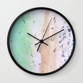 aerial beach III Wall Clock