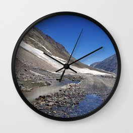 Puddle on the Road in Lahaul Valley Wall Clock