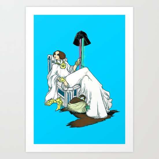 The Luxurious FashioniSTAR Art Print