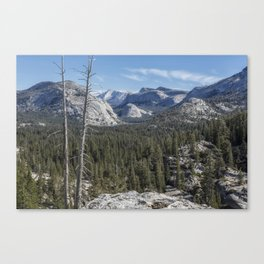 The North View Towards Tenaya Lake from Olmsted Point Canvas Print