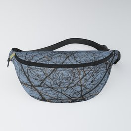 Treetop branches and leaves texture Fanny Pack
