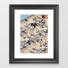 Spiderman's Open Space Framed Art Print