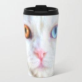 Odd-Eyed White Persian Kitten Travel Mug
