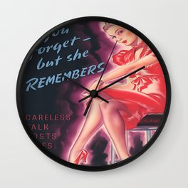 Vintage Poster- You Forget But She Remembers Wall Clock