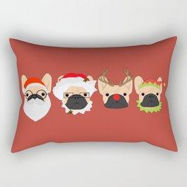 Christmas Bulldogs Rectangular Pillow