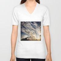 brasil V-neck T-shirts featuring Brasil - Leblon  by Claudia Araujo