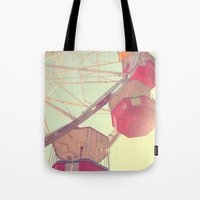 ferris wheel Tote Bags featuring ferris wheel by shannonblue