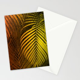 TROPICAL LEAVES GREEN MOCCA no1 Stationery Cards