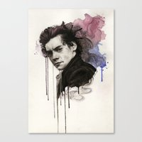 harry styles Canvas Prints featuring Harry Styles by bellavigg