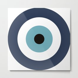 Evil Eye blue protection / Mataki Metal Print