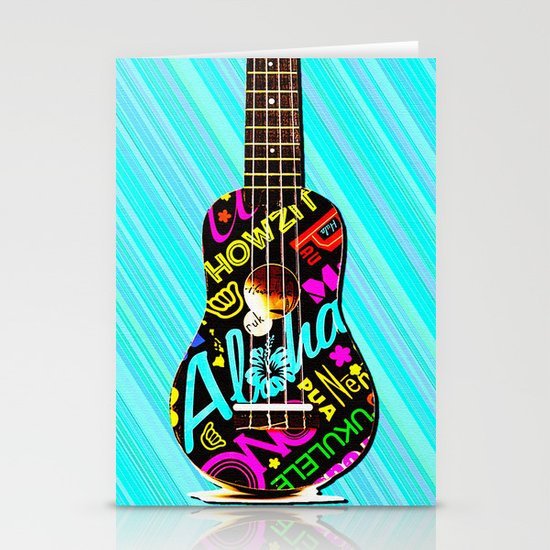 Hawaiian Ukulele for IPhone Stationery Cards