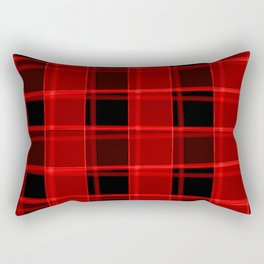 Bright intersections of light and bloody lines on a dark background. Rectangular Pillow