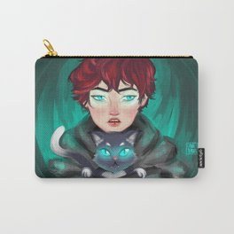 Glowing eyes by Ane Teruel Carry-All Pouch