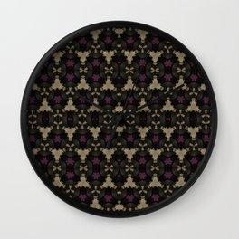 Coffee and Plums Wall Clock
