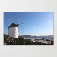 greece Canvas Prints featuring Greece by Beth Castleman