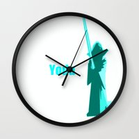 yoda Wall Clocks featuring Yoda by  Alexia Miles photography