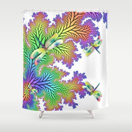 Dragonfly Forest Shower Curtain
