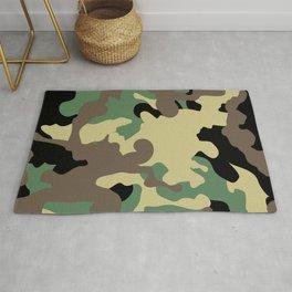 Camouflage khaki Rug