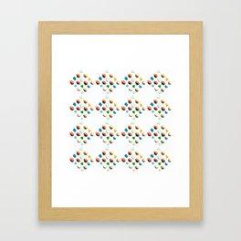 Sea Glass and Sea Shells Framed Art Print