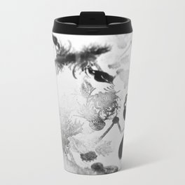 black and white floc Travel Mug