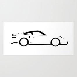 Fast Car Outline Art Print