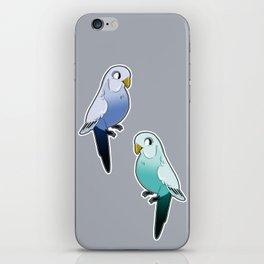 Blue Budgies iPhone Skin