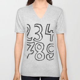 crayon numbers Unisex V-Neck