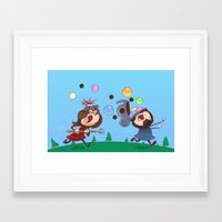 animal crossing Framed Art Prints featuring Animal Crossing Grumps by Steven Ray Brown