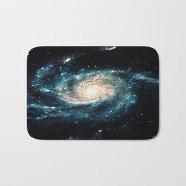 Ocean Blue Teal Spiral Galaxy Bath Mat