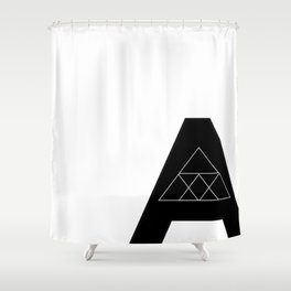"Geometric Letter ""A"" Shower Curtain"