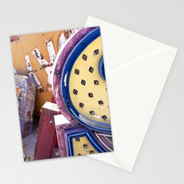 Broken Down Signs, Lights, and Colours in Las Vegas 03 Stationery Cards