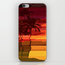 Tropical Glitchset iPhone Skin