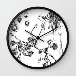 Botanical #CHERRIES Wall Clock