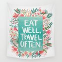 Eat Well, Travel Often Bouquet by catcoq