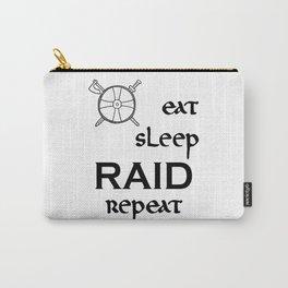 eat-sleep-RAID-repeat black, Vikings Carry-All Pouch