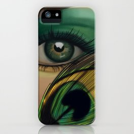 Through The Eye Of A Peacock iPhone Case