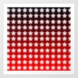 You're a Star! Red and Black! Art Print