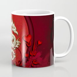 Chinese dragon with hearts Coffee Mug