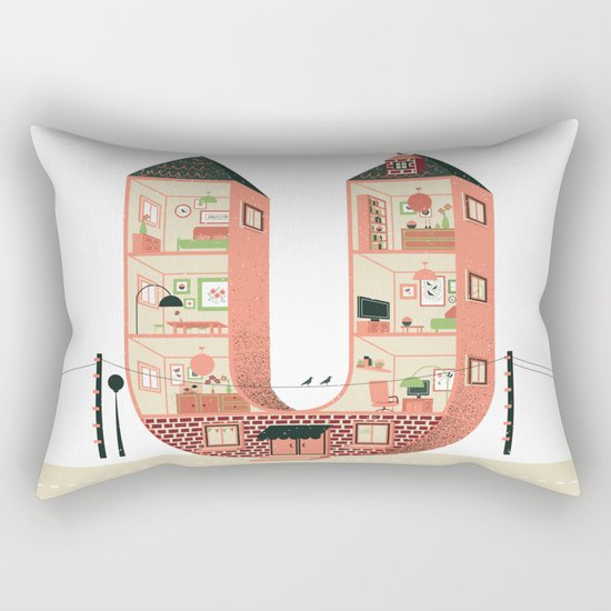 Letter U Rectangular Pillow