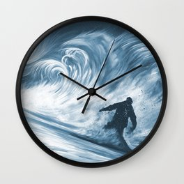 Snowboarder in 100km Blower Wall Clock