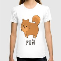 pomeranian T-shirts featuring Pomeranian by Iroha Kowalski