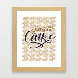I Love You a Latke Framed Art Print