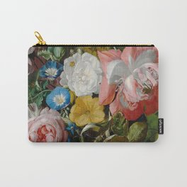 Rachel Ruysch Roses Convolvulus Poppies Other Flowers in Urn Carry-All Pouch