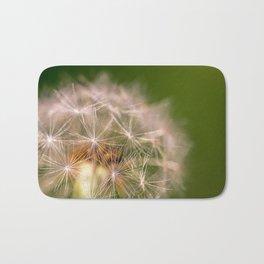 Snowglobe - Macro Photograph of Dandelion Bath Mat