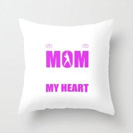 Baseball Moms Full Heart Mothers Day T-Shirt Throw Pillow
