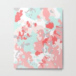 Kressa - abstract painting free spirit pastel modern home decor in trendy color splash minimal art Metal Print