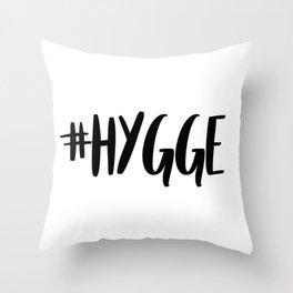 #hygge - scandi quote trend hashtag Throw Pillow
